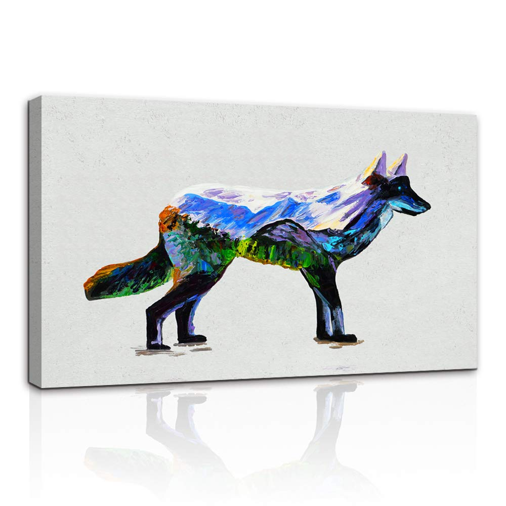 AMEMNY Paintings Canvas Wall Art Wolf Posters and Prints for Liv